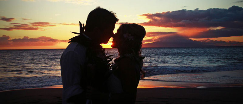 Maui beach wedding bliss.