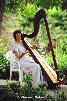 Harp Playing Wedding Music