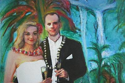 custom wedding photo painting
