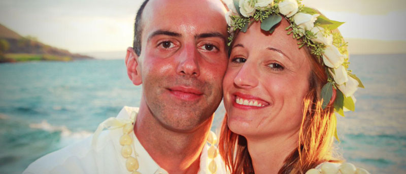 Happily married on Maui!