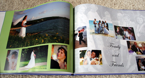 custom coffee table book inside
